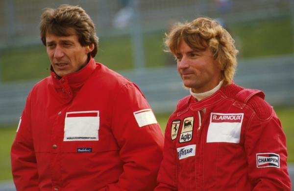 Jean-Paul Driot, left, with Rene ArnouxFormula 1 World Championship, 1984