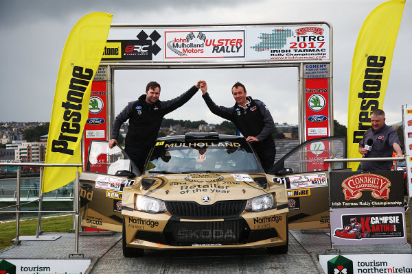 2017 British Rally Championship, Ulster Rally, Londonderry. 18th - 19th August 2017. John Mulholland / Jeff Case Skoda Fabia World Copyright: JEP/LAT Images.