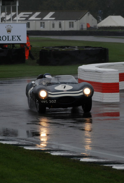 2017 Goodwood Revival, Goodwood Estate, West Sussex, England.  8th-10th September 2017 Sussex Trophy Chris McCallisterJaguar D-Type World Copyright: Jeff Bloxham/LAT Images, Ref: Digital Image