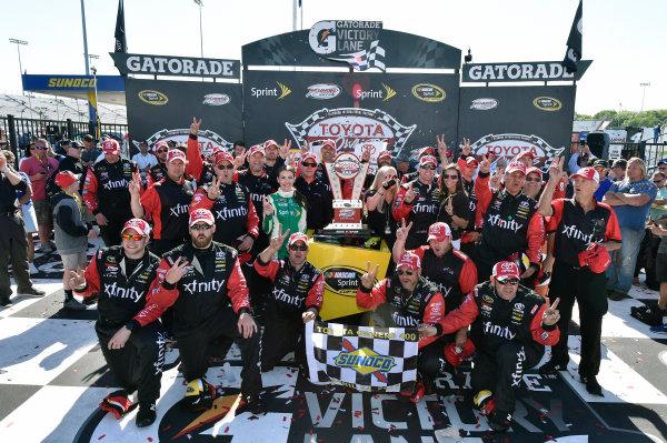 22-24 April, 2016, Richmond, Virginia USA Carl Edwards, XFINITY Toyota Camry celebrates his win in Victory Lane ? 2016, Nigel Kinrade LAT Photo USA
