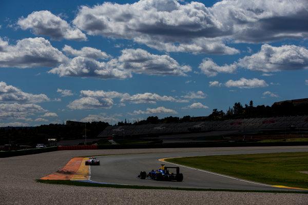 2016 GP3 Series Testing. Circuit Ricardo Tormo, Valencia, Spain. Friday 8 April 2016. Giuliano Alesi (FRA, Trident) leads Santino Ferrucci (USA, DAMS). World Copyright: Zak Mauger/LAT Photographic. ref: Digital Image _L0U3591