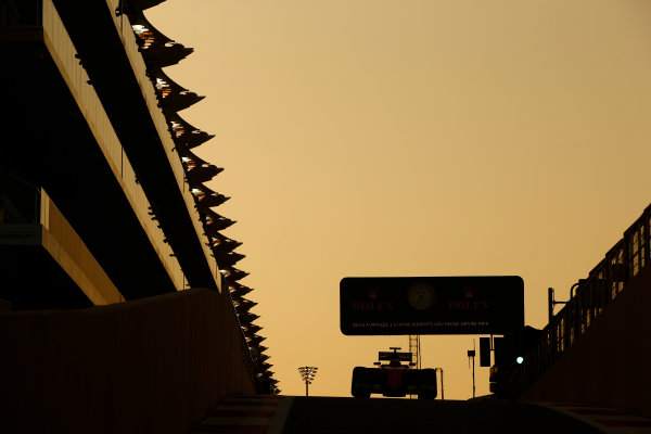 Yas Marina Circuit, Abu Dhabi, United Arab Emirates. Sunday 27 November 2016. Kimi Raikkonen, Ferrari SF16-H. World Copyright: Andrew Hone/LAT Photographic ref: Digital Image _ONY7219