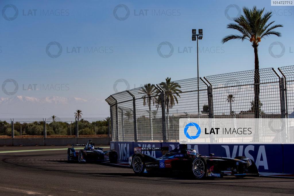 2016/2017 FIA Formula E Championship. Marrakesh ePrix, Circuit International Automobile Moulay El Hassan, Marrakesh, Morocco. Friday 11 November 2016. Stephane Sarrazin (FRA), Venturi, Spark-Venturi, Venturi VM200-FE-02.  Photo: Zak Mauger/LAT/Formula E ref: Digital Image _X0W5161