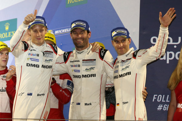 2016 FIA World Endurance Championship, Bahrain International Circuit, 17th-19th November 2016, Timo Bernhard / Mark Webber / Brendon Hartley - Porsche Team Porsche 919 Hybrid World Copyright. Jakob Ebrey/LAT Photographic