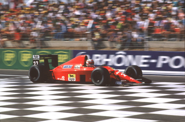 Paul Ricard, Le Castellet, France.7-9 July 1989.Nigel Mansell (Ferrari 640) 2nd position. 