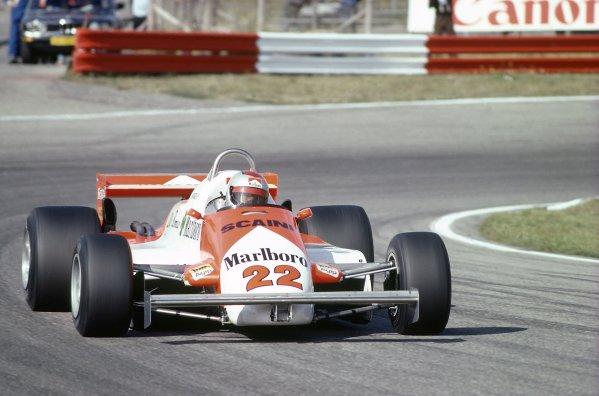 1981 Dutch Grand PrixZandvoort, Holland. 28-30 August 1981.Mario Andretti (Alfa Romeo 179C), retired. Ref - 81HOL08.World Copyright - LAT Photographic