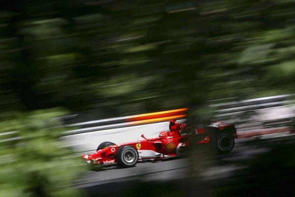2006 Canadian Grand Prix - Saturday Practice Montreal, Canada. 22nd - 25th June. Michael Schumacher, Ferrari 248F1, 2nd position, action. World Copyright: Lorenzo Bellanca/LAT Photographic ref: Digital Image ZD2J5449