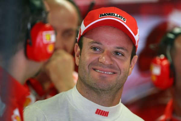 2005 Italian Grand Prix - Friday Practice,Monza, Italy. 2nd September 2005 Rubens Barrichello, Ferrari F2005, portrait.World Copyright: Steve Etherington/LAT Photographic ref: 48mb Hi Res Digital Image