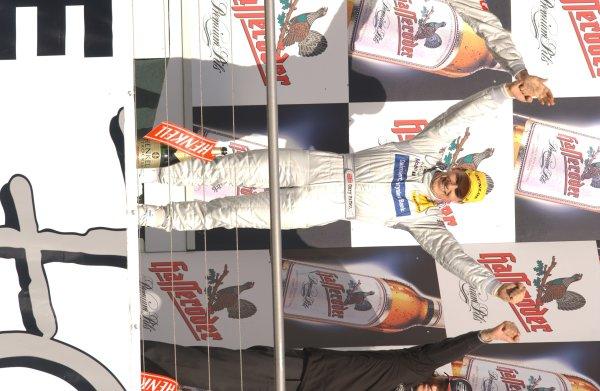 2005 DTM ChampionshipHockenheim, Germany. 21st - 23rd October 2005.Podium - Winner Bernd Schneider (AMG-Mercedes C-Klasse), second placed Jamie Green (Salzgitter AMG-Mercedes C-Klasse)  and third placed Gary Paffett (AMG-Mercedes C-Klasse).World Copyright: Andre Irlmeier/LAT Photographicref: Digital Image Only