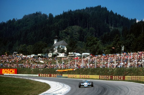 Race winner Jacques Laffite (FRA), Ligier JS17. Austrian Grand Prix, Rd11, Osterreichring, Austria, 16 August 1981. BEST IMAGE