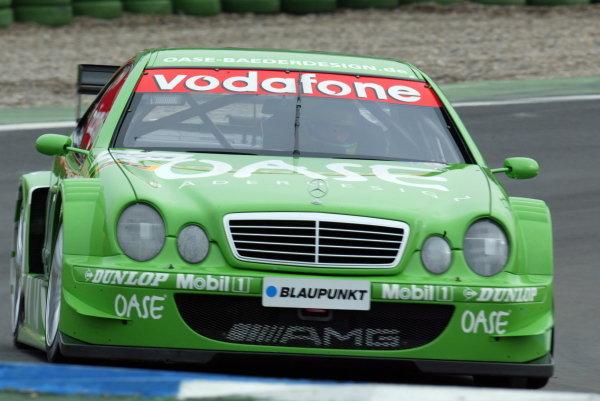 Marcel Tiemann (GER) Mercedes Benz CLK DTMGerman Touring Car Championship, Hockenhiem, Germany, 21 April 2002.