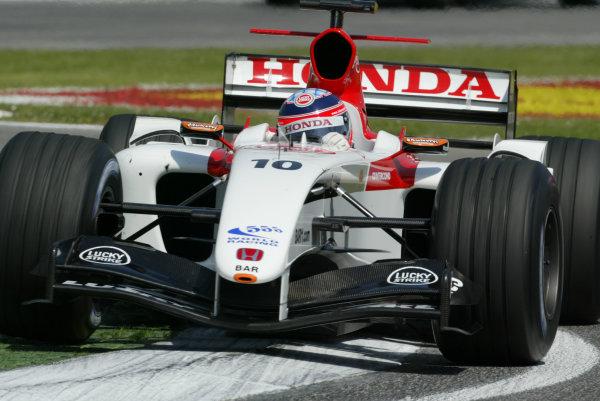 2004 San Marino Grand Prix - Friday Practice,Imola, Italy.23rd April 2004Takuma Sato, BAR Honda006, action.World Copyright LAT PhotographicDigital image only.