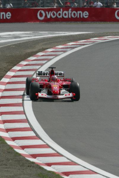 2003 European Grand Prix - Friday 1st Qualifying,Nurburgring, Germany. 27th June 2003 Rubens Barrichello, Ferrari F2003 GA, action.World Copyright: Steve Etherington/LAT Photographic ref: Digital Image Only