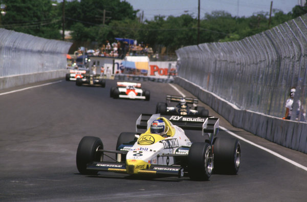 1984 United States Grand Prix. Fair Park, Dallas, Texas, USA. 6-8 July 1984. Keke Rosberg (Williams FW09 Honda) 1st position. World Copyright - LAT Photographic