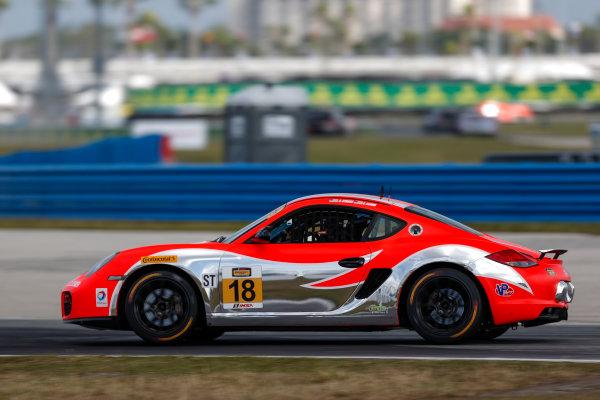 26-27 January, 2017, Daytona Beach, Florida USA 18, Porsche, Porsche Cayman, ST, Aurora Straus, Connor Bloum, Nick Longhi ?2017, Jake Galstad LAT Images