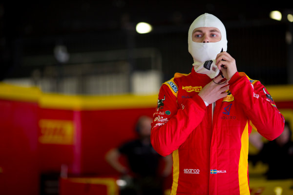 Circuit de Barcelona Catalunya, Barcelona, Spain. Monday 13 March 2017. Gustav Malja (SWE, Racing Engineering). Photo: Alastair Staley/FIA Formula 2 ref: Digital Image 580A8773