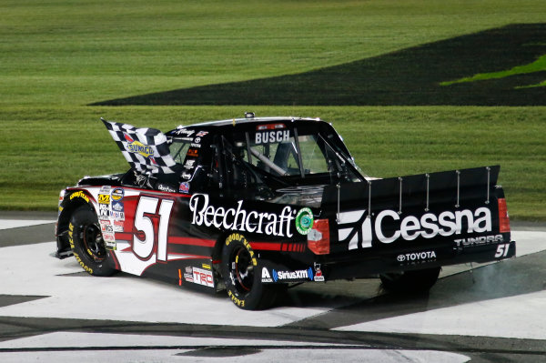 NASCAR Camping World Truck Series North Carolina Education Lottery 200 Charlotte Motor Speedway, Concord, NC USA Friday 19 May 2017 Kyle Busch, Cessna Toyota Tundra World Copyright: Matthew T. Thacker LAT Images ref: Digital Image 17CLT1mt1241