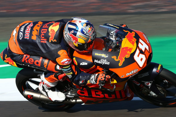 2017 Moto3 Championship - Round 12 Silverstone, Northamptonshire, UK. Friday 25 August 2017 Bo Bendsneyder, Red Bull KTM Ajo World Copyright: Gold and Goose / LAT Images ref: Digital Image 688471