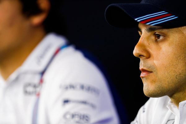Interlagos, Sao Paulo, Brazil. Thursday 09 November 2017. Felipe Massa, Williams Martini Racing in the press conference. World Copyright: Glenn Dunbar/LAT Images  ref: Digital Image _31I8423