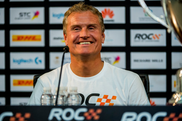 2018 Race Of Champions King Farhad Stadium, Riyadh, Abu Dhabi. Saturday 3 February 2018 Winner David Coulthard (GBR) in the post event press conference. Copyright Free FOR EDITORIAL USE ONLY. Mandatory Credit: 'Race of Champions'