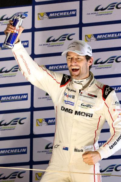 2015 FIA World Endurance Championship, Bahrain International Circuit, Bahrain. 19th - 21st November 2015. Mark Webber Porsche Team Porsche 919 Hybrid 2015 Champion. World Copyright: Jakob Ebrey / LAT Photographic.