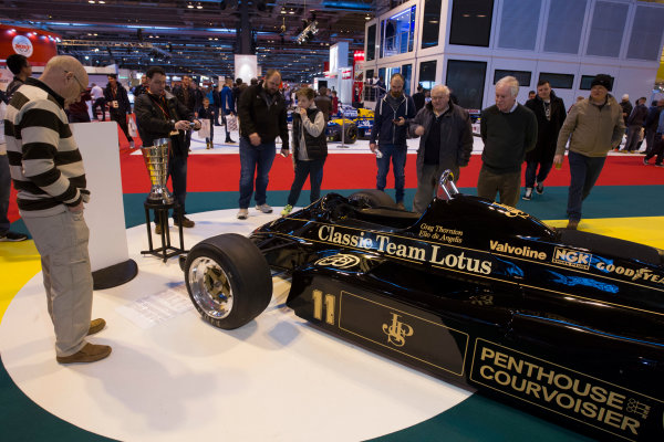 Autosport International Exhibition.  National Exhibition Centre, Birmingham, UK. Sunday 17 January 2016.  Fans at the Classic Team Lotus stand. World Copyright: Mike Hoyer/LAT Photographic. ref: Digital Image EL0G8849