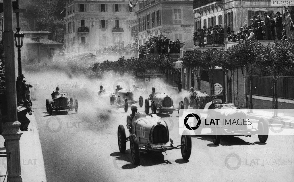 Monte Carlo. 3rd April 1933. Achille Varzi (Bugatti T51) and Baconin Borzacchini (Scuderia Ferrari Alfa Romeo 8C-2300