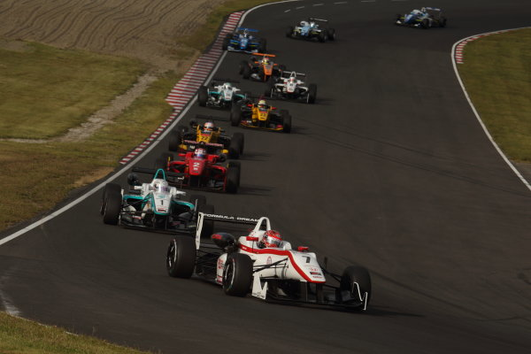 2014 All-Japan F3 Championship. Sugo, Japan. 27th - 28th September 2014. Rd 6. Race 1 - Start of the race action World Copyright: Yasushi Ishihara / LAT Photographic. Ref:  2014JF3_Rd12&13_001.JPG
