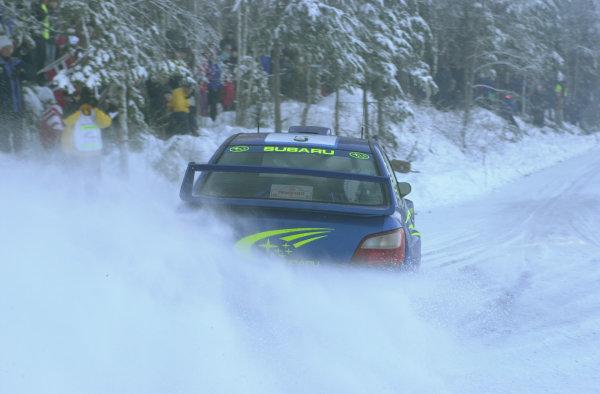2001 World Rally Championship.   Swedish Rally. 9th - 11th February 2001. Rd 2. Richard Burns on stage ten. World Copyright: Ralph Hardwick/ LAT Photographic. Ref: Burns4