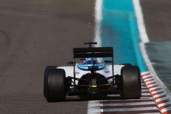 Yas Marina Circuit, Abu Dhabi, United Arab Emirates. Wednesday 26 November 2014. Felipe Nasr, Williams FW36 Mercedes.  World Copyright: Sam Bloxham/LAT Photographic. ref: Digital Image _G7C9591