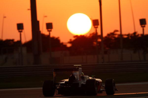 2014 GP3 Series Test 3.   Yas Marina Circuit, Abu Dhabi, United Arab Emirates. Saturday 29 November 2014. Kourosh Khani (IRI, Hilmer Motorsport)  Photo: Sam Bloxham/GP3 Series Media Service. ref: Digital Image _14P3022