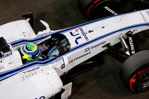 Yas Marina Circuit, Abu Dhabi, United Arab Emirates. Saturday 22 November 2014. Felipe Massa, Williams FW36 Mercedes. World Copyright: Charles Coates/LAT Photographic. ref: Digital Image _J5R5099
