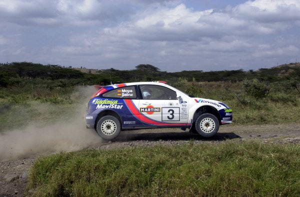 2001 World Rally Championship.Nairobi, Kenya. July 20-22, 2001Carlos Sainz during shakedownPhoto: Ralph Hardwick/LAT