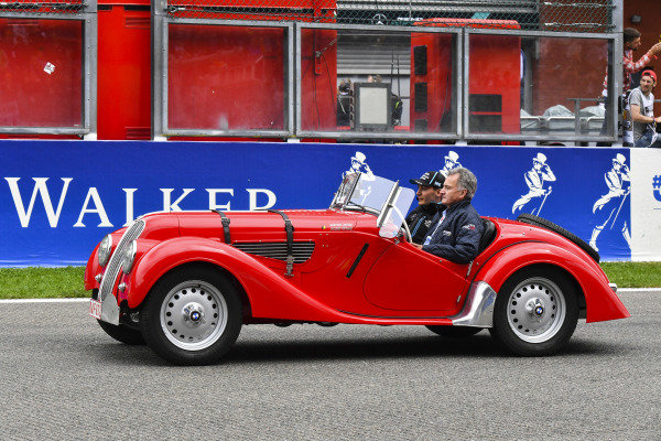 George Russell, Williams Racing, on the drivers' parade