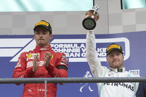 Valtteri Bottas, Mercedes AMG F1, 3rd position, lifts his trophy