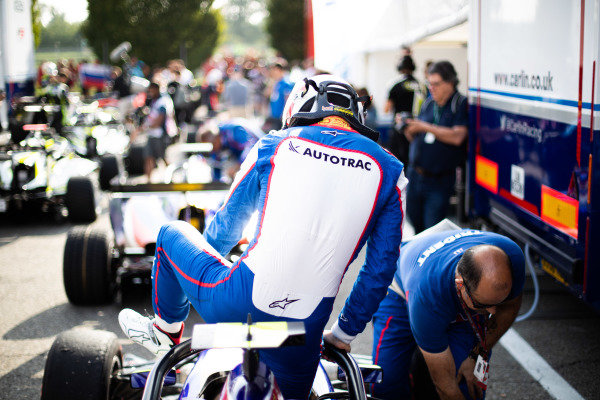 AUTODROMO NAZIONALE MONZA, ITALY - SEPTEMBER 07: Pedro Piquet (BRA, Trident) during the Monza at Autodromo Nazionale Monza on September 07, 2019 in Autodromo Nazionale Monza, Italy. (Photo by Joe Portlock / LAT Images / FIA F3 Championship)