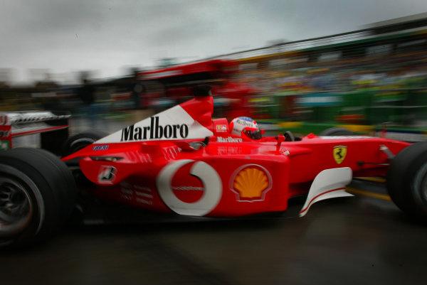 2002 Qantas Australian Grand Prix - RaceAlbert Park, Melbourne, Australia. 3rd March 2002Rubens Barrichello (Ferrari F2001).World Copyright - Steve Etherington/LAT PhotographicRef: 12 5MB Digital Image Only