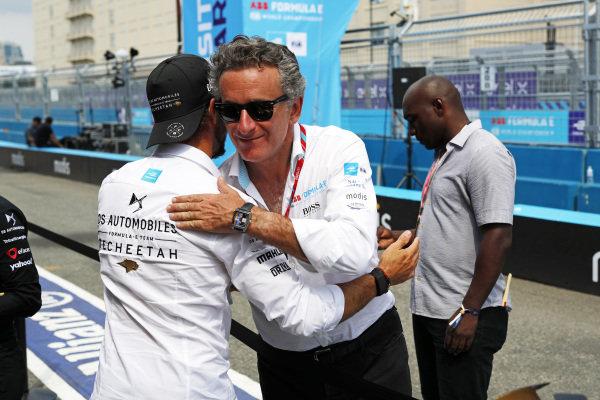 Antonio Felix da Costa (PRT), DS Techeetah, and Alejandro Agag, Chairman of Formula E