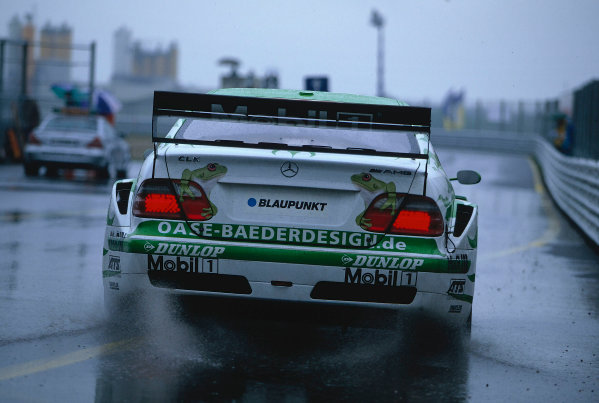 2002 DTM Championship, Zolder, Belgium. Rd 2, 4th-5th May 2002.Webbed feet were the order of the day with bad weather affecting the racing.World Copyright: Lawrence/LAT Photographic