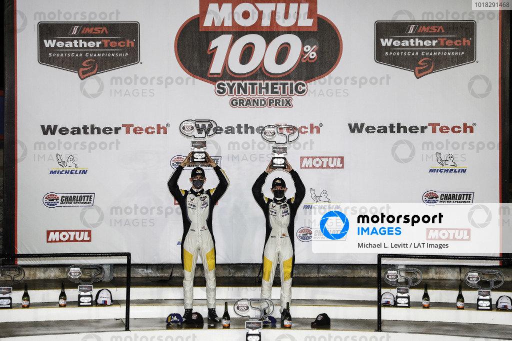 #3 Corvette Racing Corvette C8.R, GTLM: Antonio Garcia, Jordan Taylor, podium