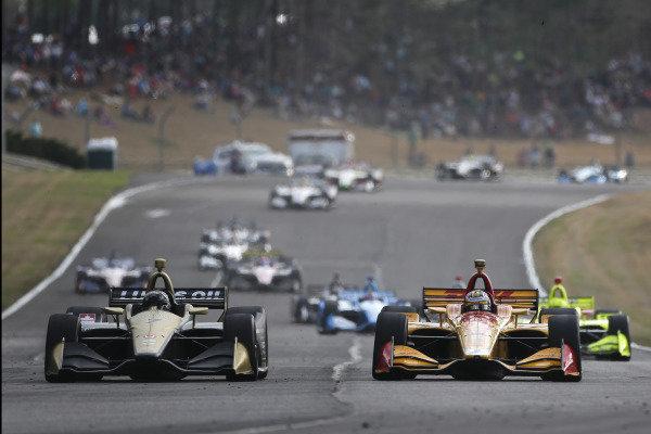 Marcus Ericsson, Arrow Schmidt Peterson Motorsports Honda, Ryan Hunter-Reay, Andretti Autosport Honda