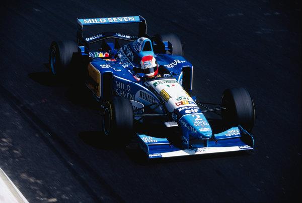 1995 Italian Grand Prix.Monza, Italy. 8-10 September 1995.Johnny Herbert (Benetton B195 Renault) 1st position.Ref-95 ITA 51.World Copyright - LAT Photographic