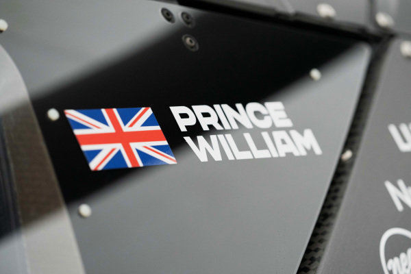 The name of HRH Prince William, Duke of Cambridge, on the side of the Odyssey 21