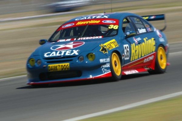 2002 Australian V8 SupercarsAdelaide Clipsal 500. Australia. 17th March 2002.Caltex Ford driver Wayne Gardner in action at Mallala Raceway, Australia. Gardner was one of 17 drivers who had to pre qualify for the Clipsal 500.World Copyright: Mark Horsburgh/LAT Photographicref: Digital Image Only