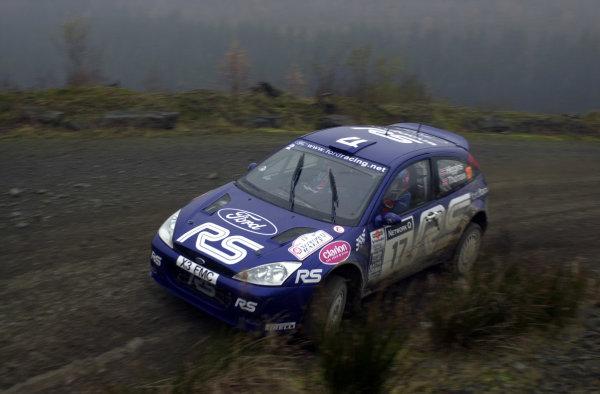2001 FIA World Rally Championship.Rally of Great Britain. Cardiff, Wales. November 22-25, 2001.Mark Higgins on Stage 6 - Halfway.Photo: Ralph Hardwick/LAT
