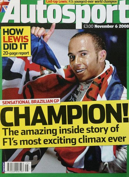 Cover of Autosport magazine, 6th November 2008