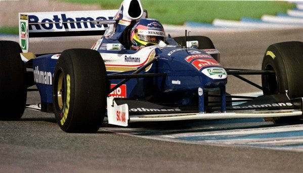 1997 European Grand Prix.Jerez, Spain.24-26 October 1997.Jacques Villeneuve (Williams FW19 Renault) 3rd position clinching the World Championship.World Copyright - LAT Photographic