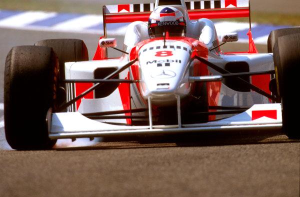 Hockenheim, German.26-28 July 1996.David Coulthard (McLaren MP4/11B) 5th position.Ref-96 GER 19.World Copyright - LAT Photographic