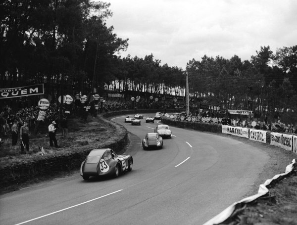 Le Mans, France 12-13 June 1954 Tommy Wisdom/Jack Fairman (Bristol 450, number 33) follows the field through the Esses Ref-Motor 769/8 World Copyright - LAT Photographic