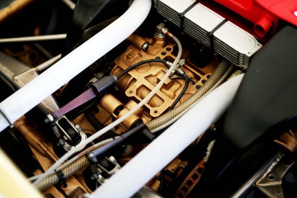 2017 Goodwood Festival of Speed. Goodwood Estate, West Sussex, England. 30th June - 2nd July 2017. ex - Gilles Villeneuve Ferrari 312 World Copyright : JEP/LAT Images